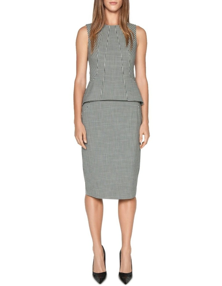 Textured Gingham Pencil Skirt image 1
