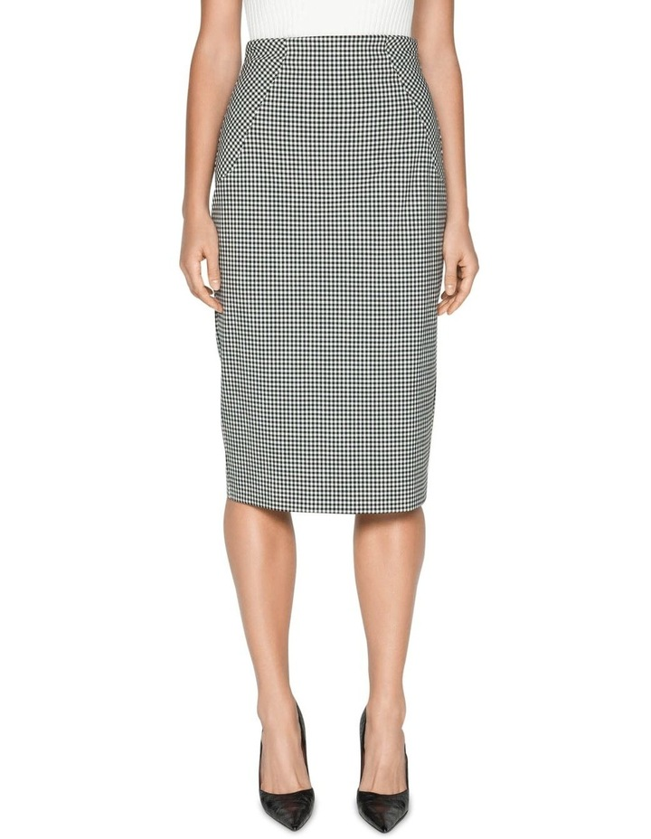 Textured Gingham Pencil Skirt image 2