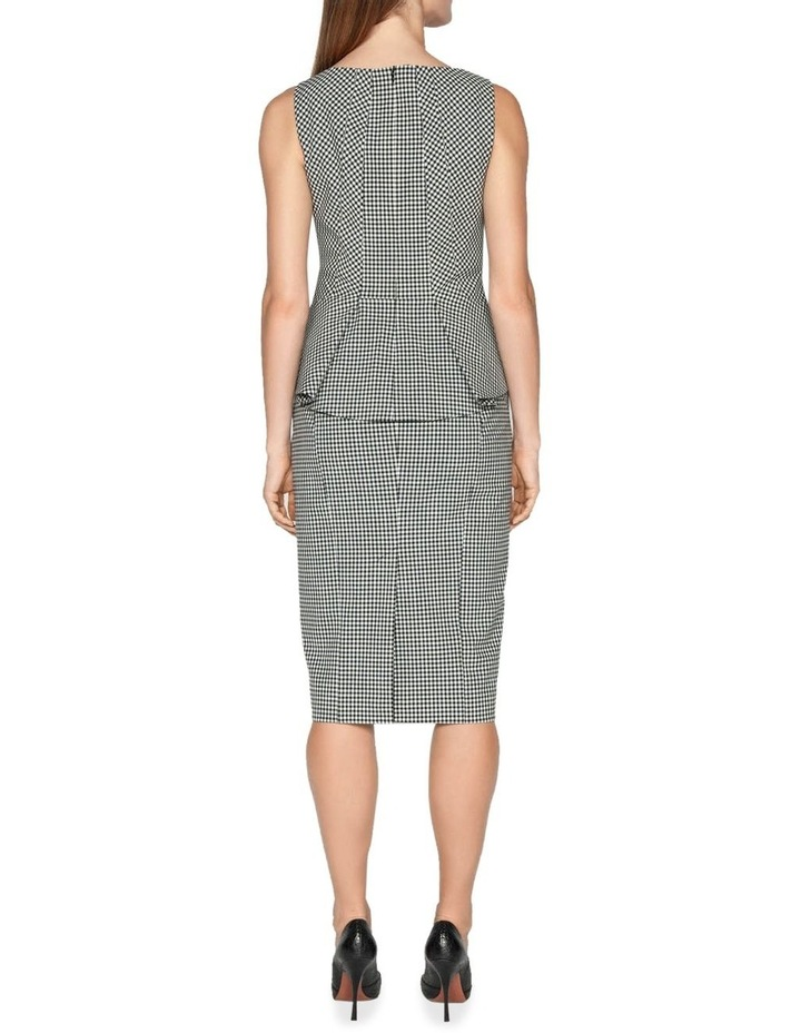 Textured Gingham Pencil Skirt image 3