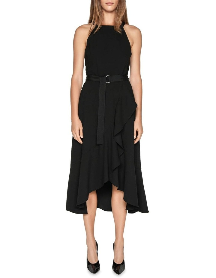 Crepe Asymmetric Frill Dress by Cue