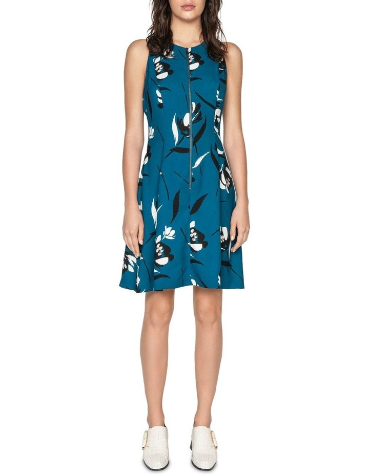 Floral Zip Front Dress image 1