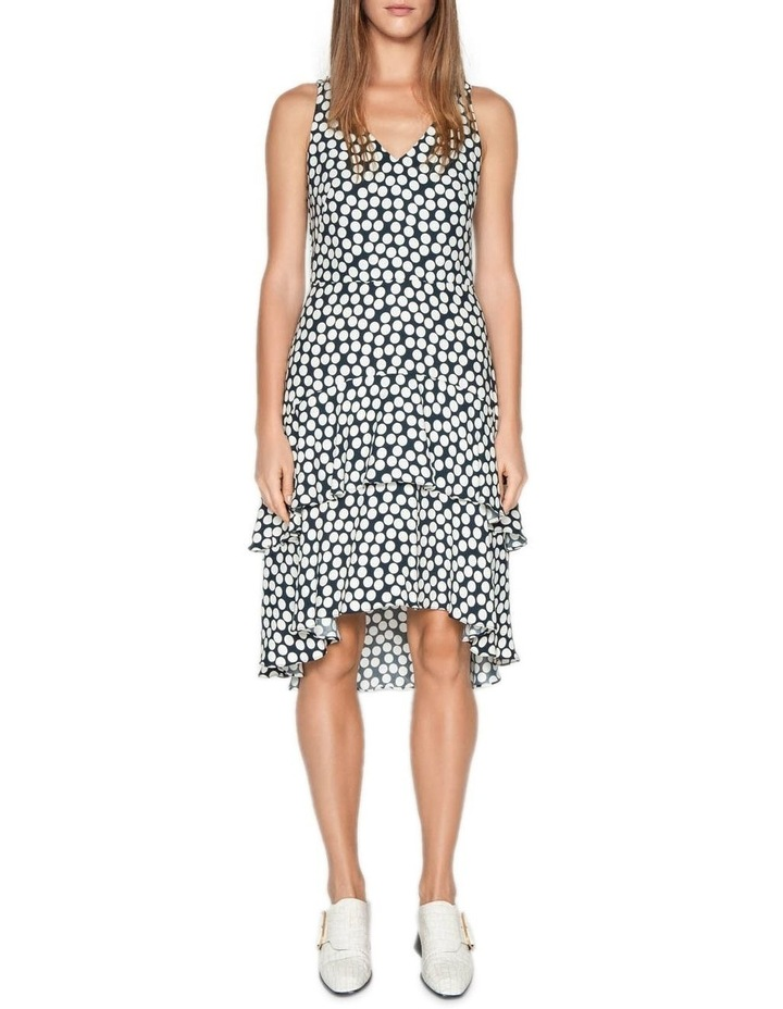 Spotted Crepe Midi Dress image 1