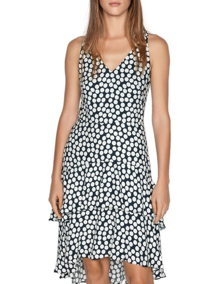 Spotted Crepe Midi Dress image 2