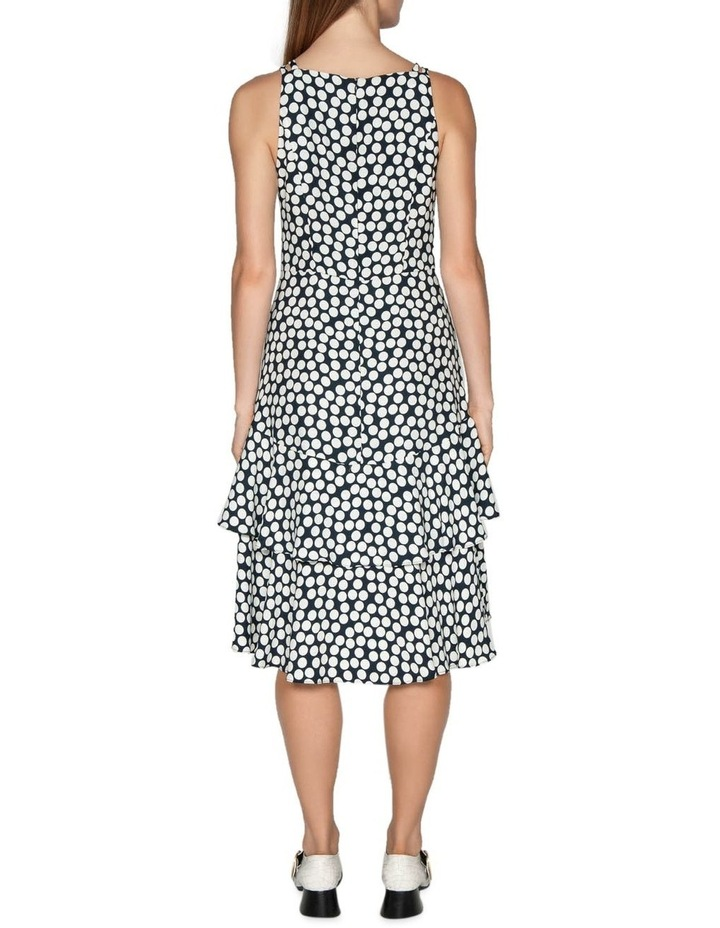Spotted Crepe Midi Dress image 3