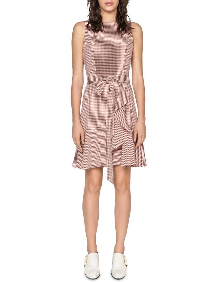 Crinkle Gingham Frill Hem Dress image 1