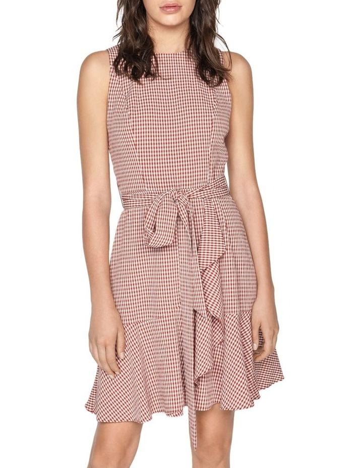 Crinkle Gingham Frill Hem Dress image 2