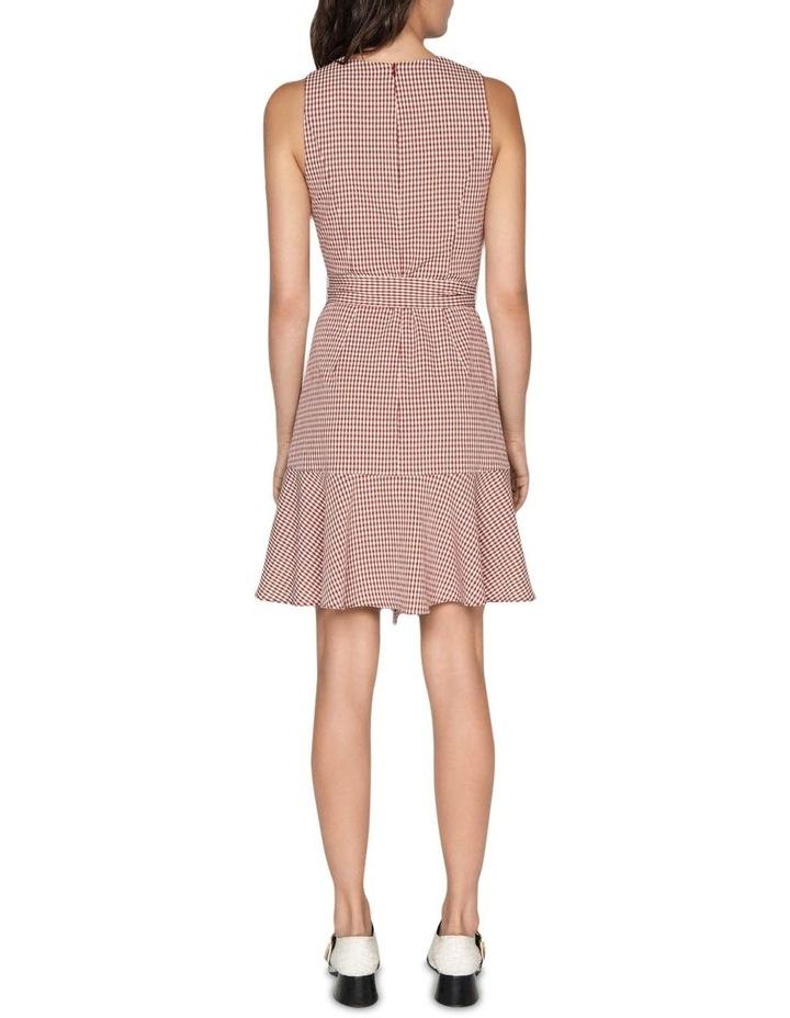 Crinkle Gingham Frill Hem Dress image 3