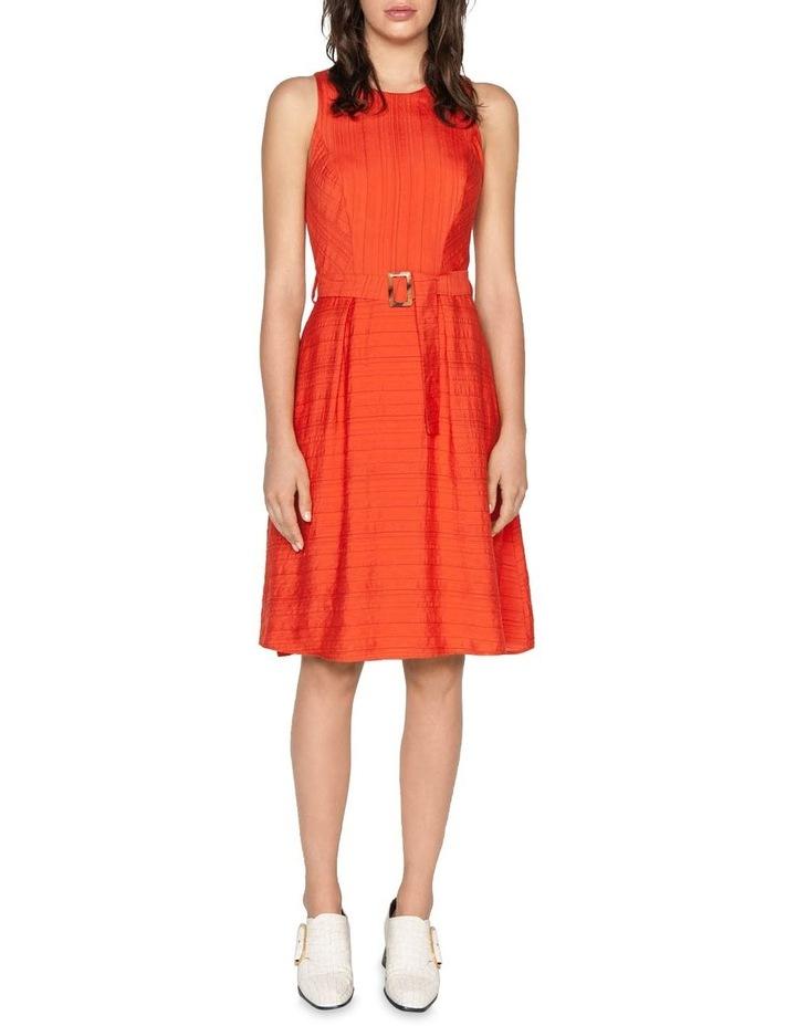 Belted Stripe Midi Dress image 1