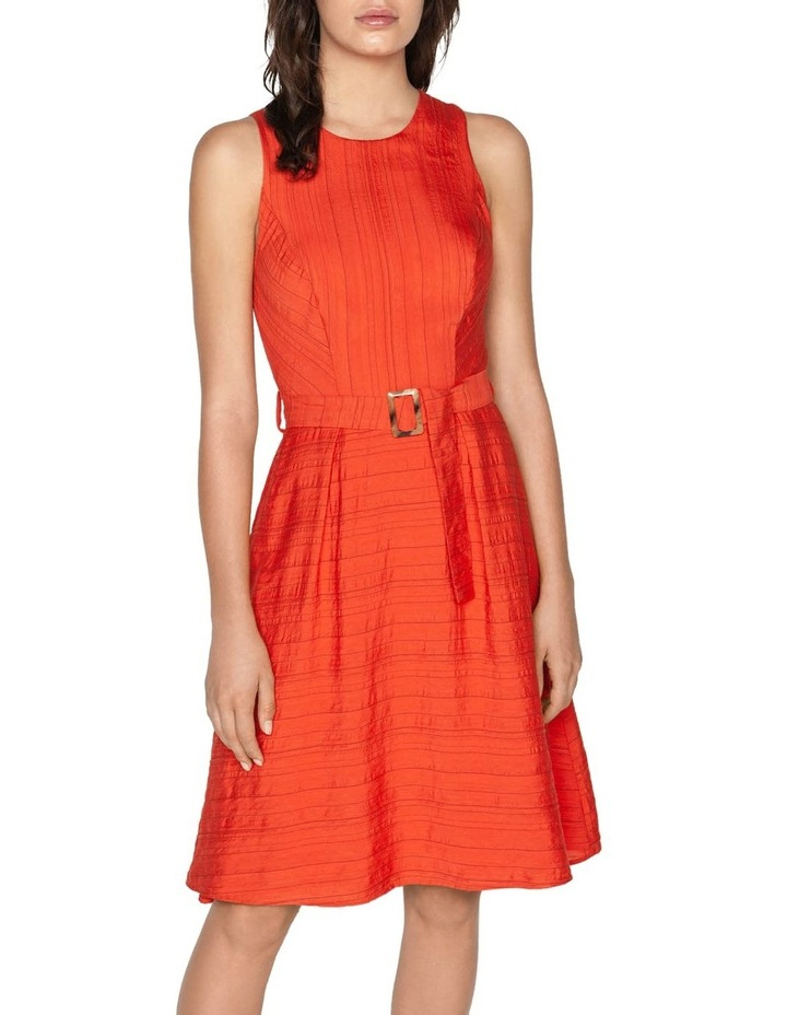 Belted Stripe Midi Dress image 2