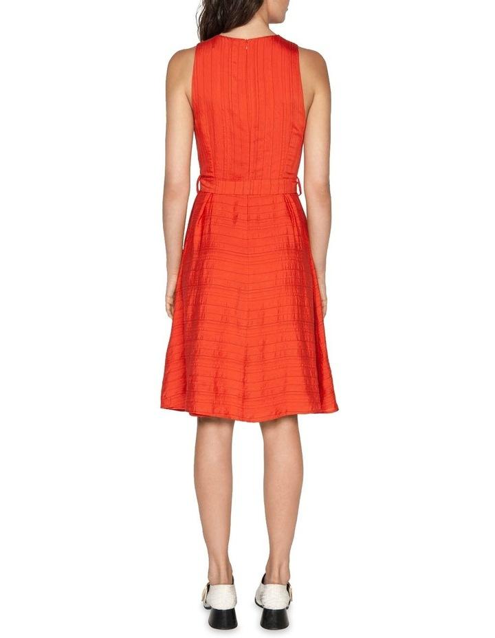 Belted Stripe Midi Dress image 3