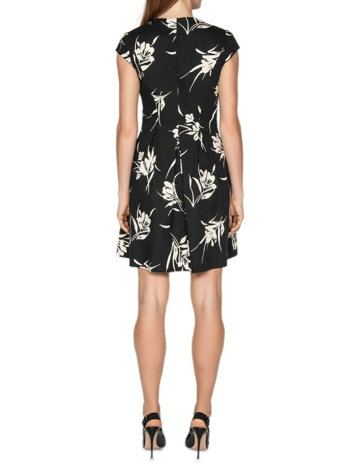 Monochrome Floral Zip Front Dress image 3