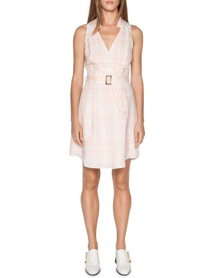 Linen Check Belted Dress image 1