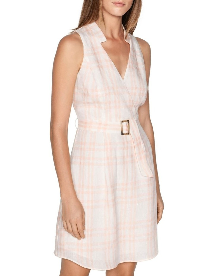 Linen Check Belted Dress image 2