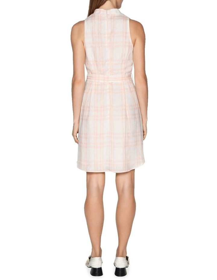 Linen Check Belted Dress image 3