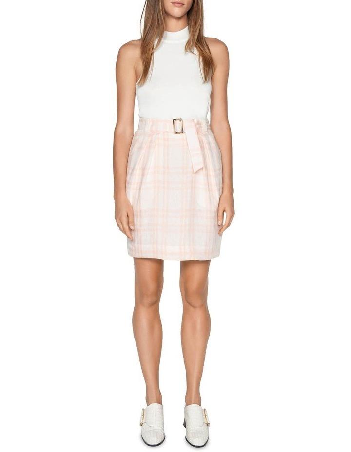 Linen Check Tulip Skirt image 1