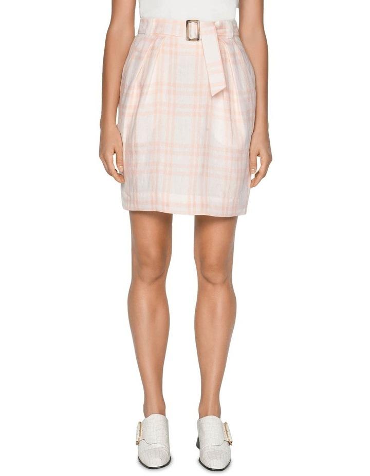 Linen Check Tulip Skirt image 2