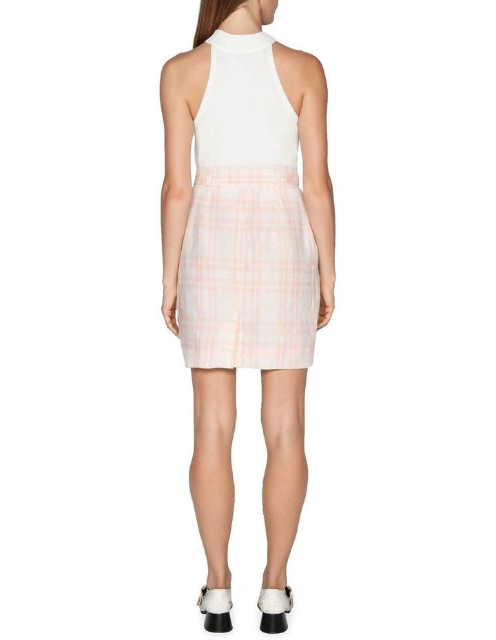 Linen Check Tulip Skirt image 3