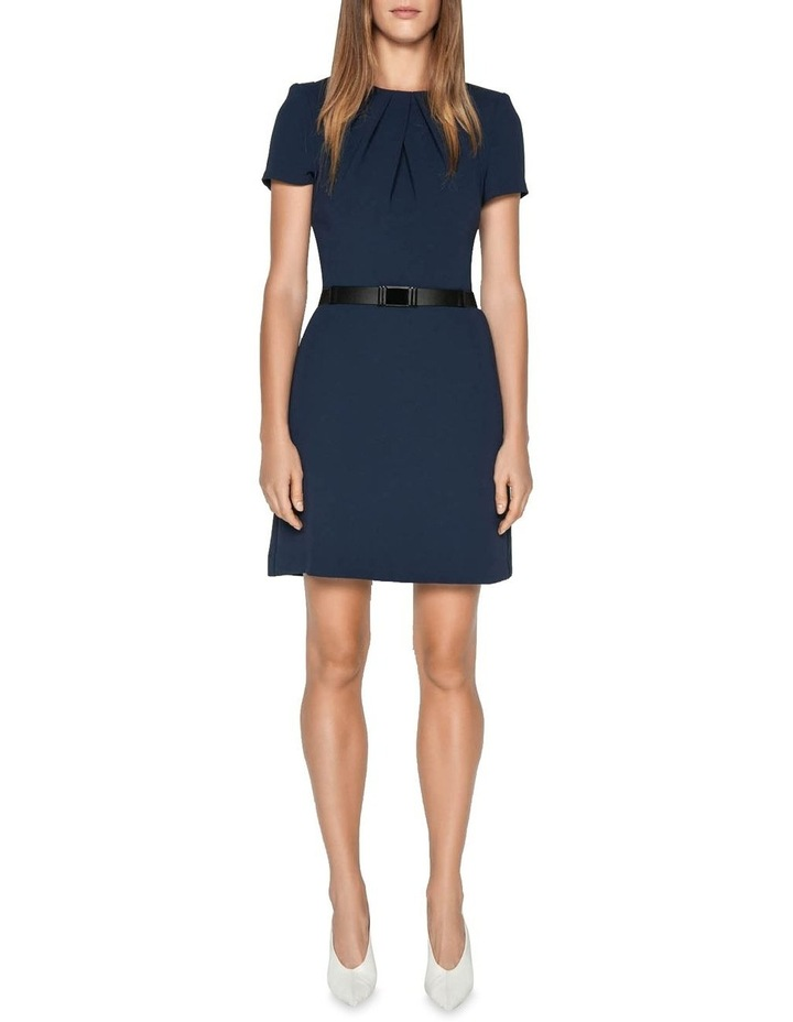 Crepe Belted Shift Dress image 1