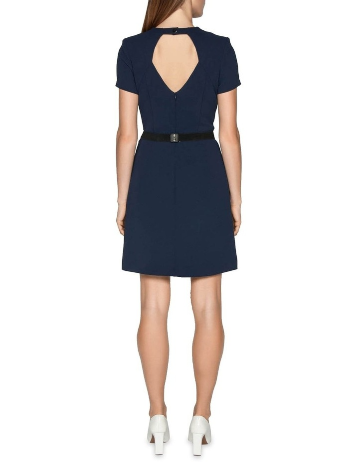 Crepe Belted Shift Dress image 3