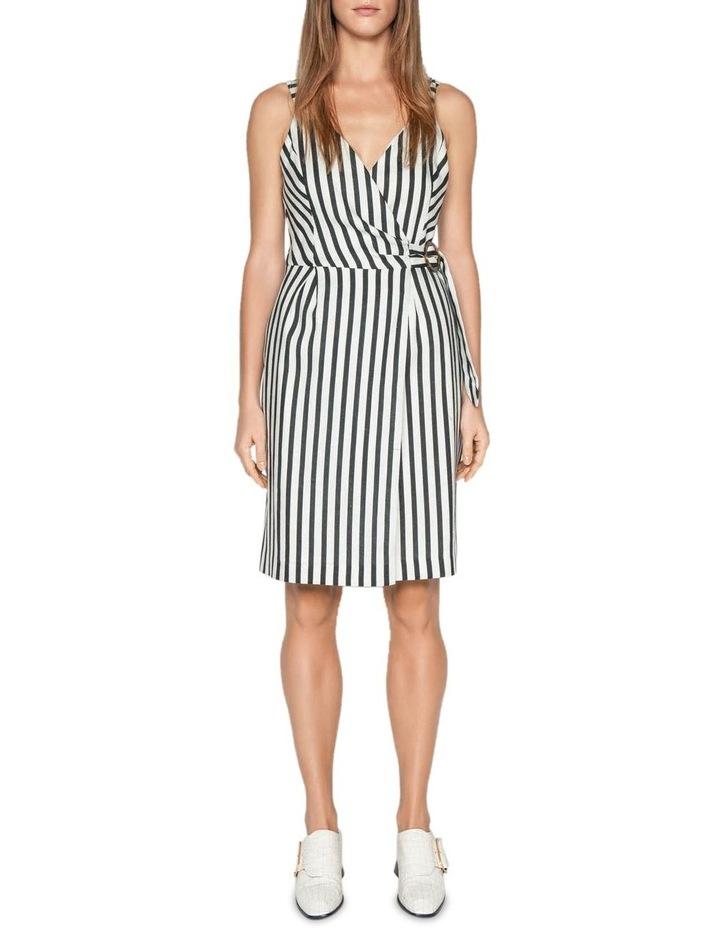 Linen Stripe Wrap Dress image 1