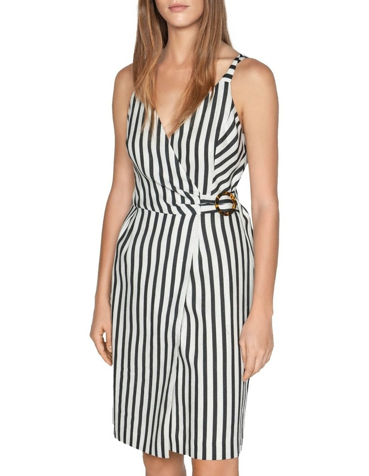Linen Stripe Wrap Dress image 2