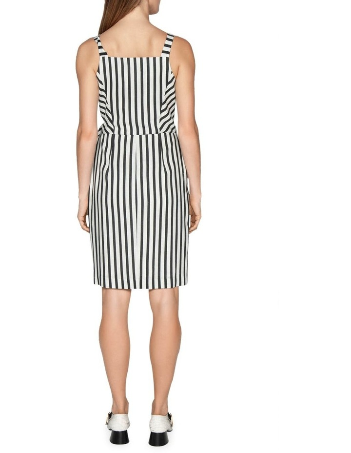 Linen Stripe Wrap Dress image 3