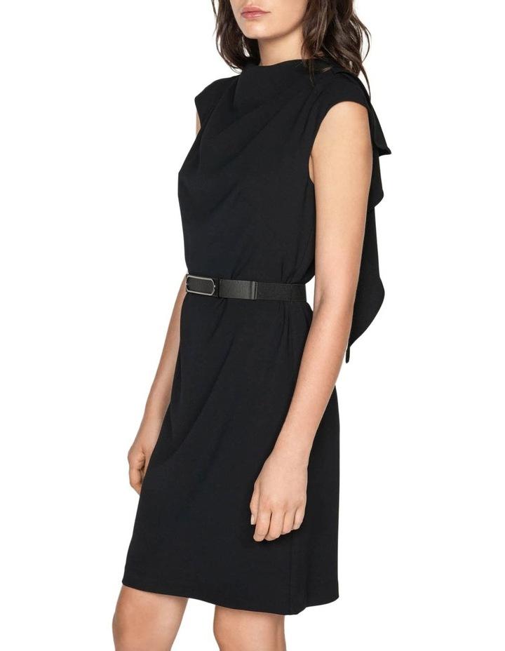 Crepe Draped Neck Dress image 2