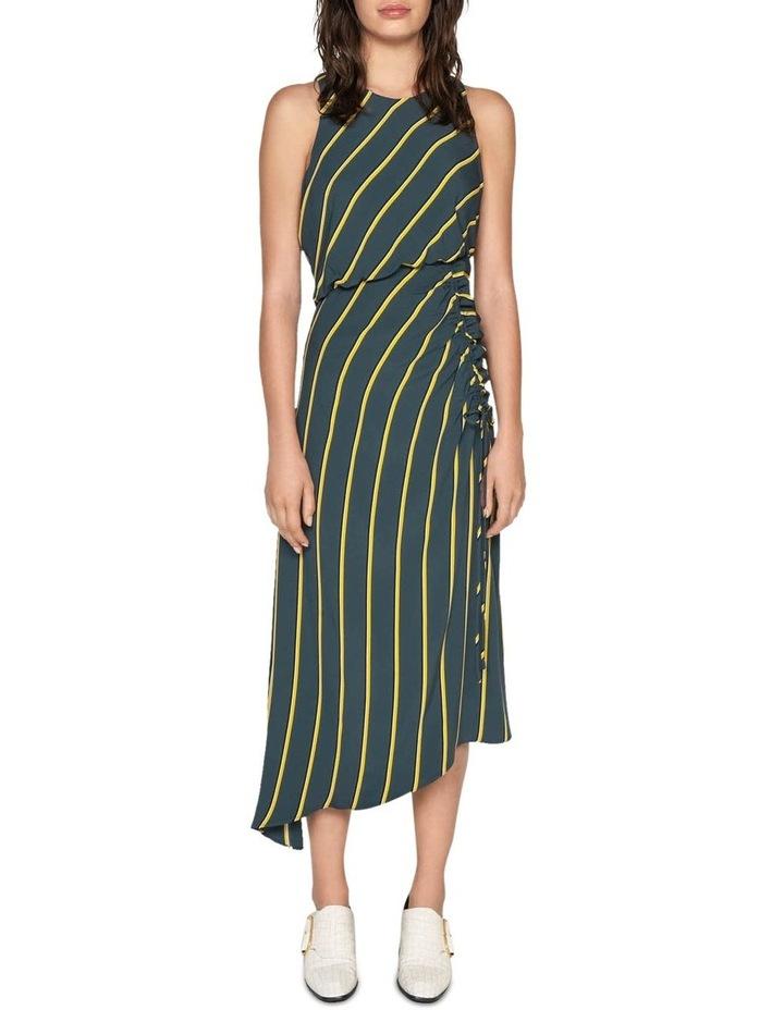 Bold Stripe Asymmetric Dress image 1