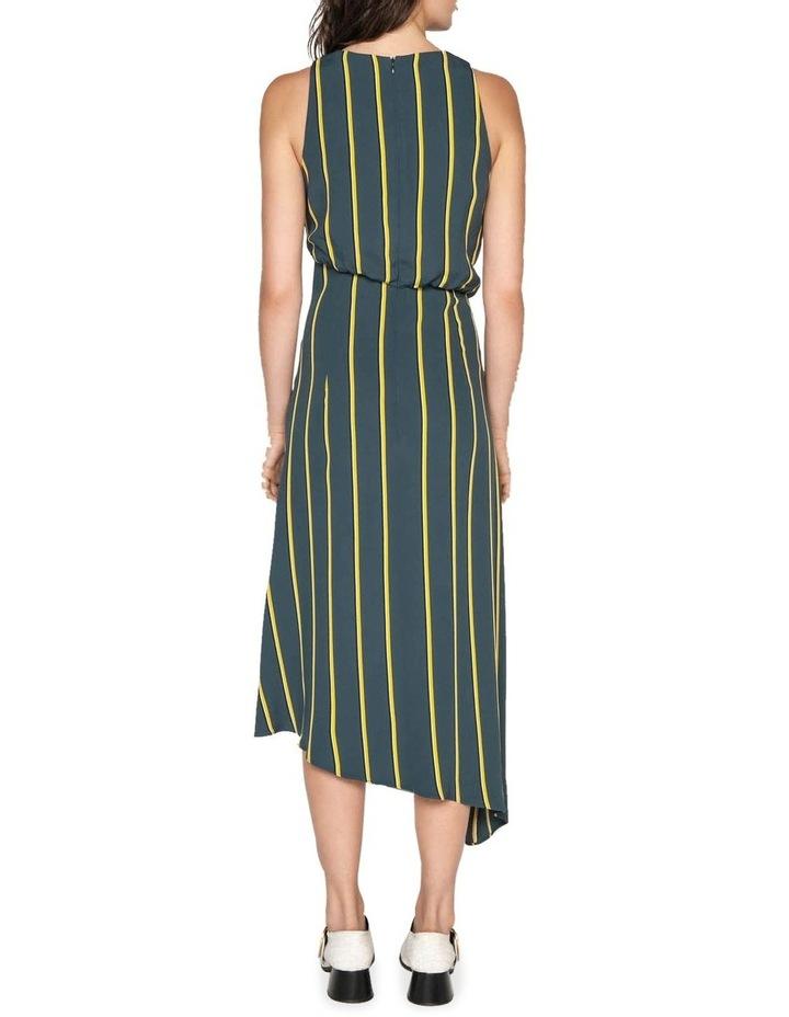 Bold Stripe Asymmetric Dress image 3