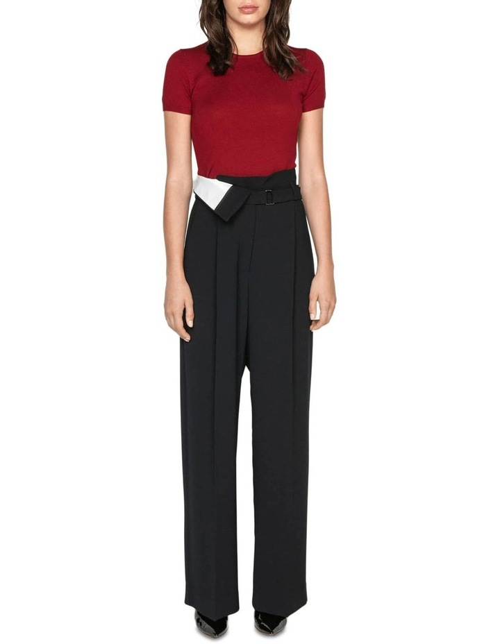 Crepe Spliced Belted Trouser image 1