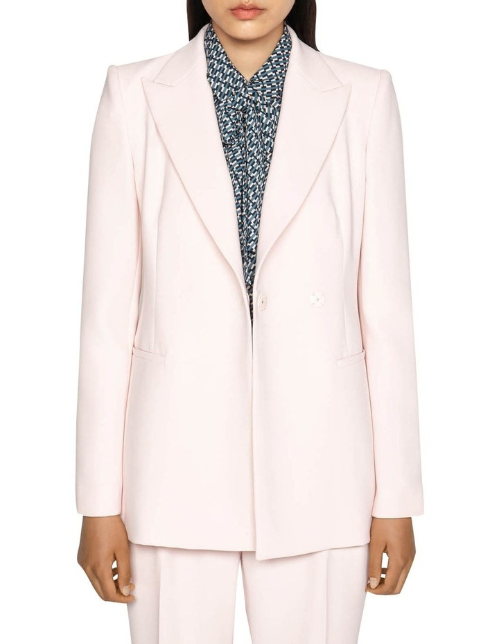 Pink Double Breasted Blazer image 5