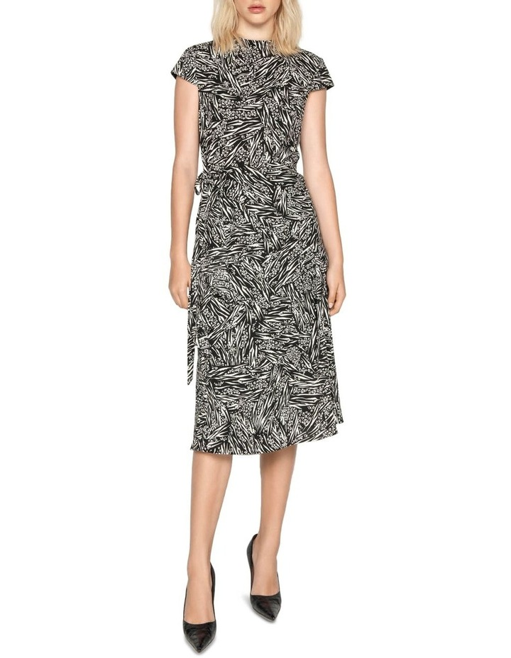 Asymmetric Frill Midi Dress image 1