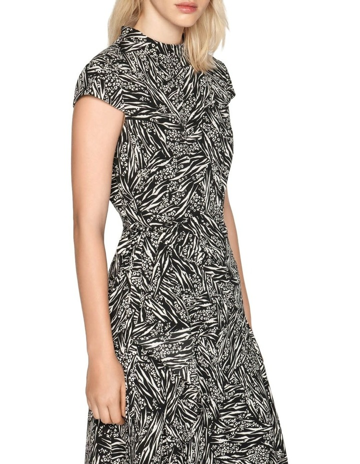 Asymmetric Frill Midi Dress image 2
