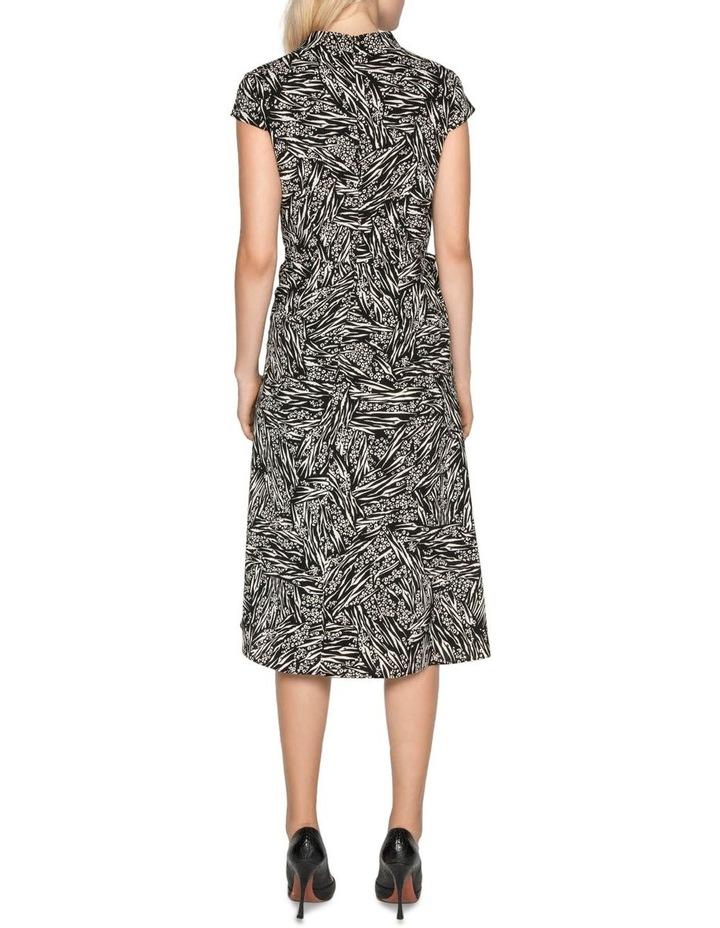 Asymmetric Frill Midi Dress image 3