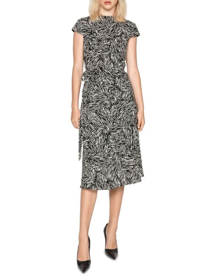 Asymmetric Frill Midi Dress image 4