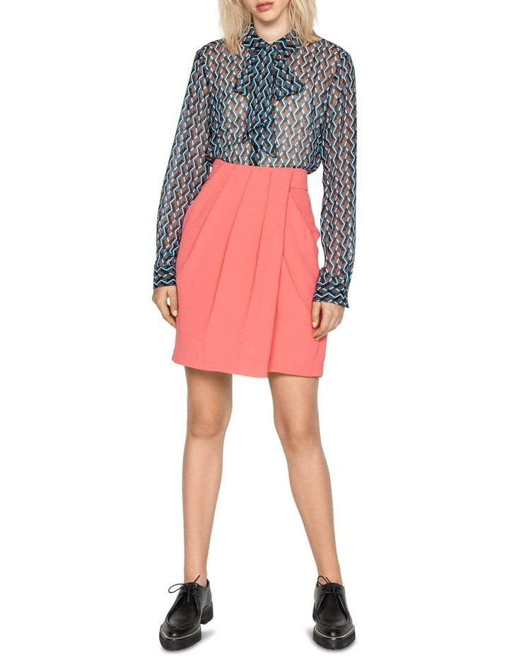 Geometric Tie Neck Blouse image 1