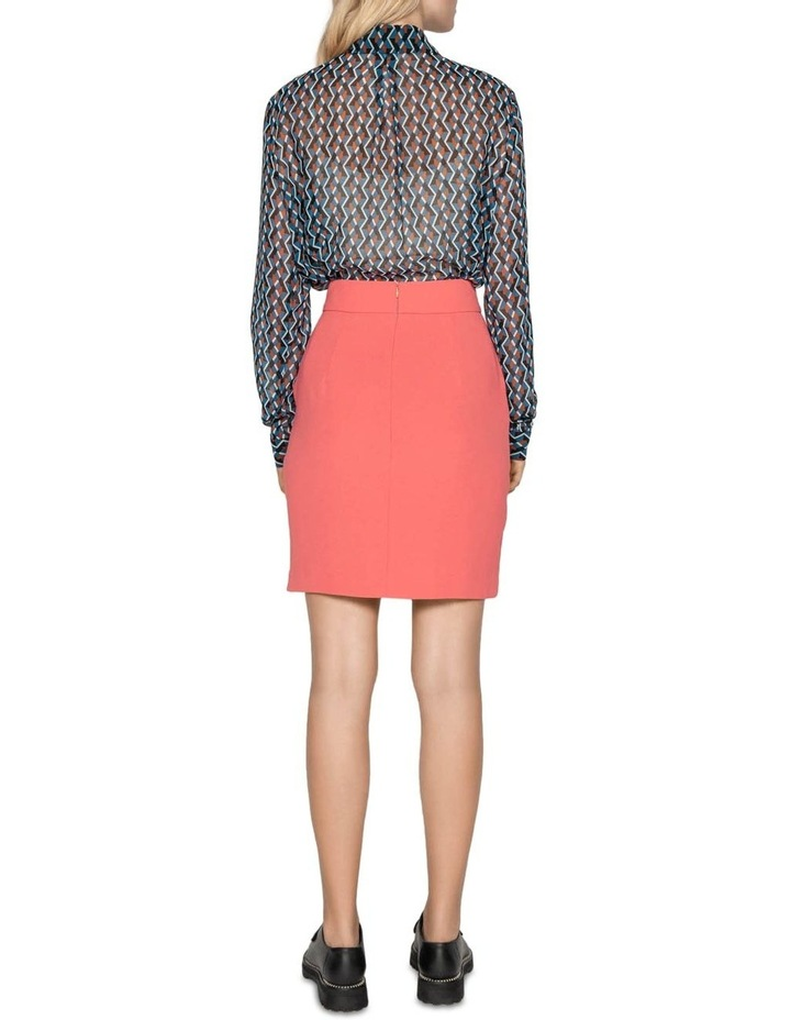 Geometric Tie Neck Blouse image 3