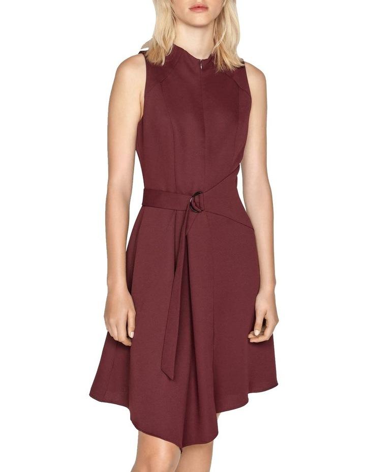 Belted Funnel Neck Dress image 2