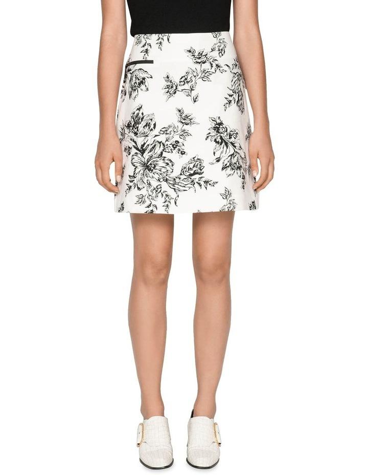 Toile Floral Cotton Ottoman Skirt image 1