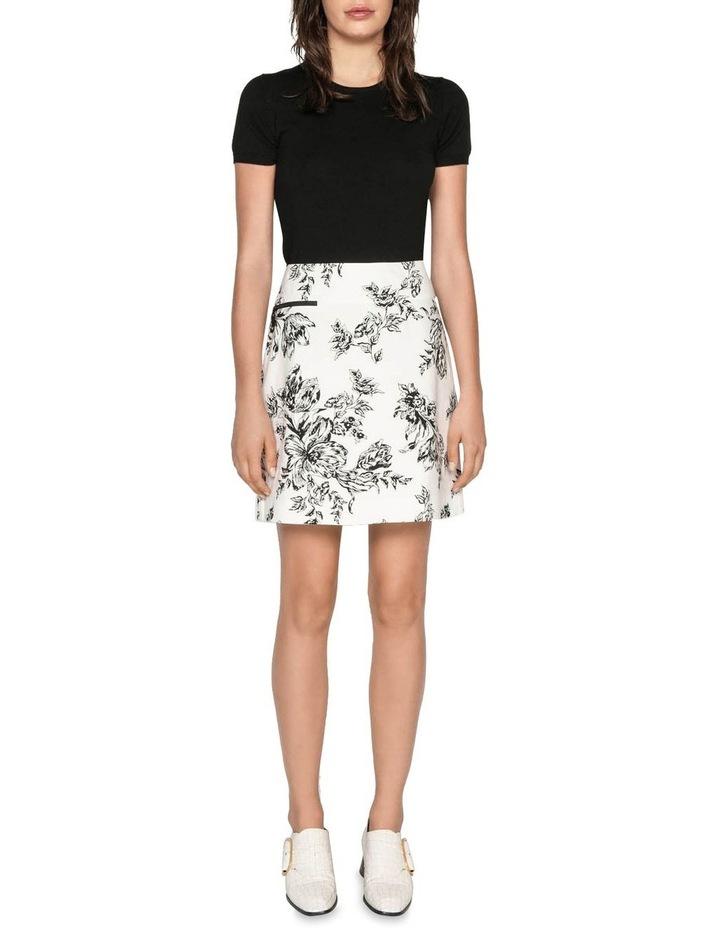 Toile Floral Cotton Ottoman Skirt image 2