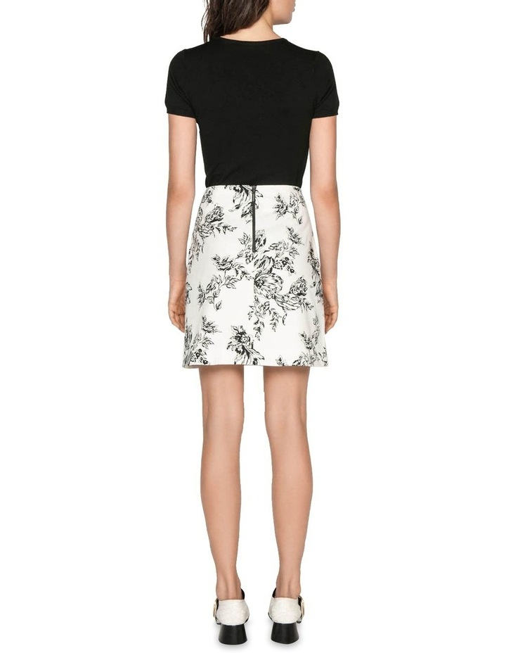 Toile Floral Cotton Ottoman Skirt image 3