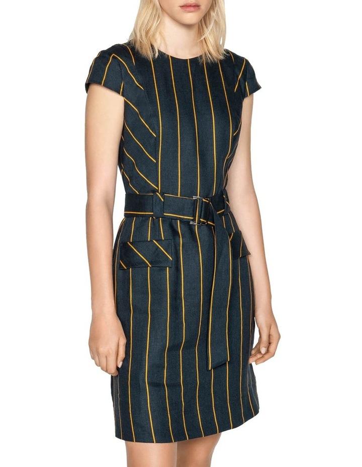 Belted Linen Stripe Dress image 2