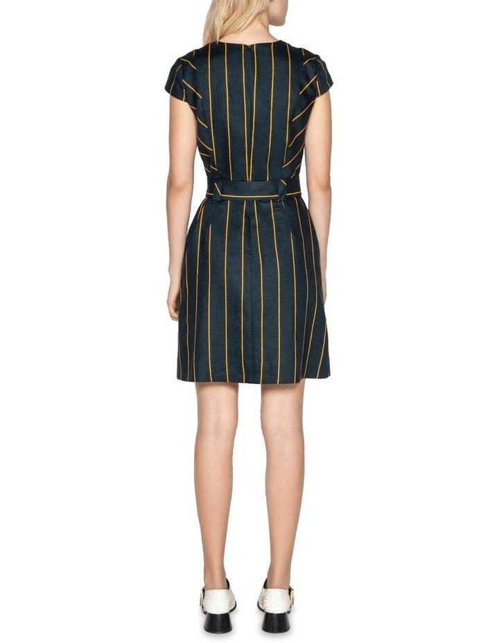 Belted Linen Stripe Dress image 3