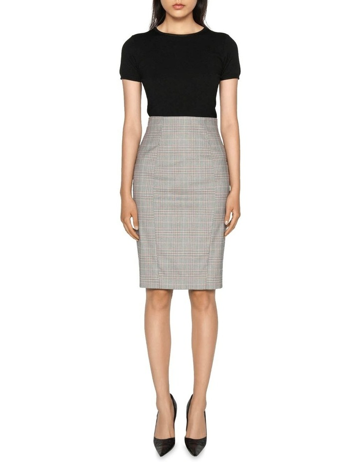 Highlight Check Pencil Skirt image 1