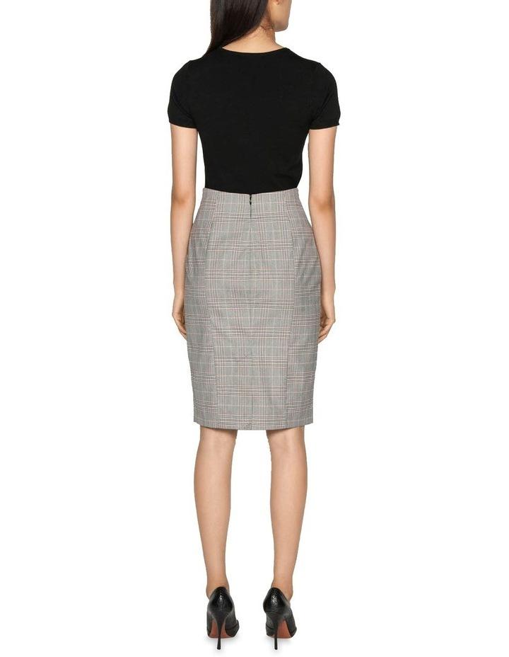Highlight Check Pencil Skirt image 3