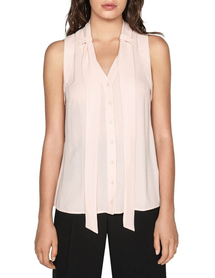 Georgette Tie Neck Top image 1