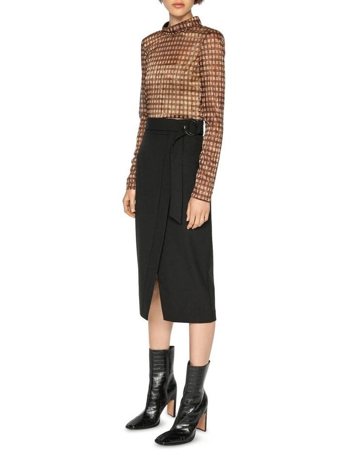 Belted Wrap Midi Skirt image 1