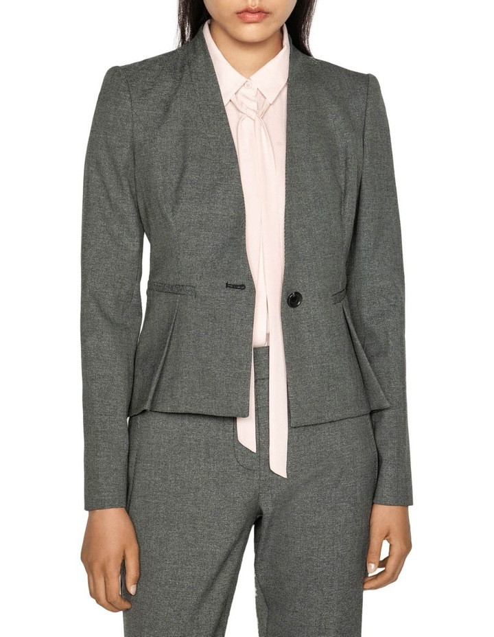 Melange Collarless Jacket image 2