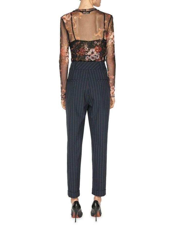Camel Pinstripe Trouser image 3