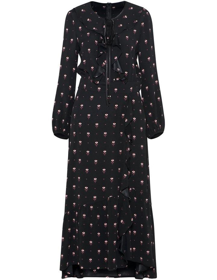 Geometric Motif Midi Dress image 4